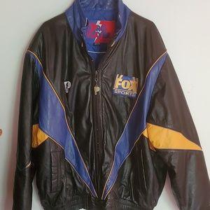 Vintage Men's Pro Player Fox Sports Leather Coat